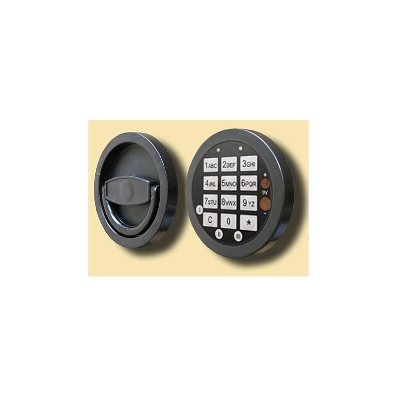 Zamek elektroniczny z elektronicznym otwieraniem awaryjnym (GST S plus), 12 mm wystający 34221