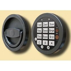 Zamek elektroniczny bez otwierania awaryjnego, 12mm wystający (GST S), w zamian za zamek kluczowy 59022