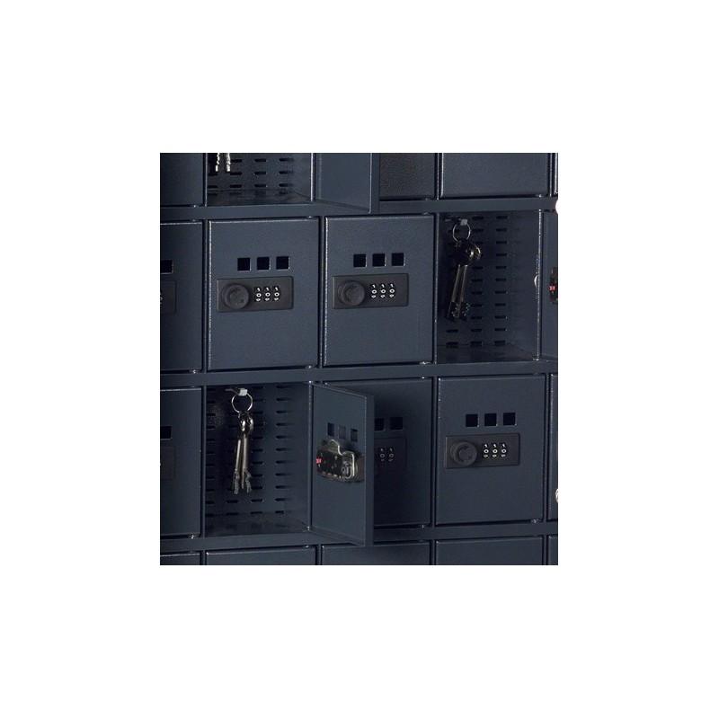 Sejfy wewnętrzne na klucze na ścianie tylnej z przestawnym zamkiem szyfrowym i okienkiem 13126